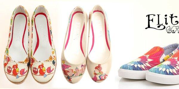 Originální dámské boty s hravými potisky Elite Goby