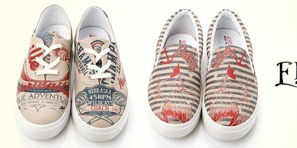 Originální pánské boty s hravými potisky Elite Goby