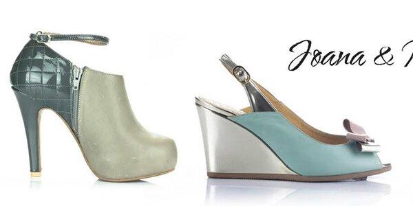 Atraktivní kožená obuv pro dámy Joana and Paola