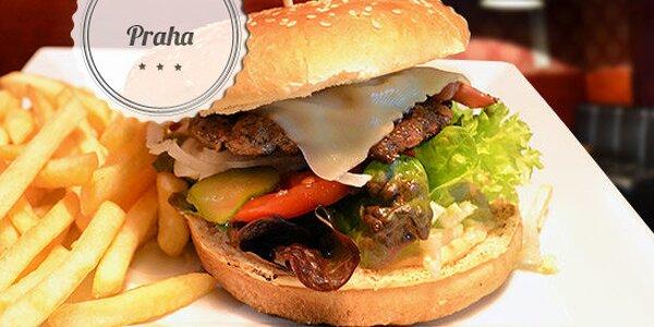 Sleva 61 % na burger Chicago + hranolky