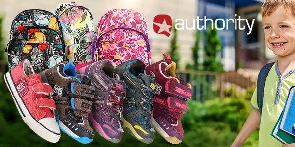 Zpátky do školy - Authority dětské boty a batohy
