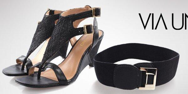 Šmrncovní dámské sandálky a pásky Via Uno