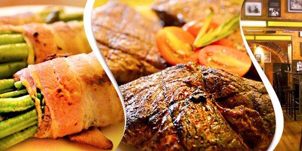 Steakové degustační menu (600 g) v Jáma Steakhouse