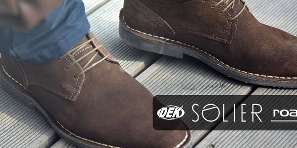 Vždy elegantní pánské boty Solier, Roamers, DEK...