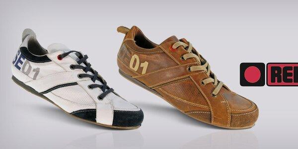 Slušivé pánské boty z kůže Red Hot