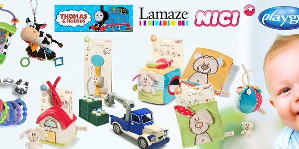 Hračky Lamaze, Playgro a Nici pro správný vývoj miminka