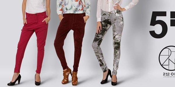 Dámské kalhoty plné barev a vzorů Fiveunits a 2nd One