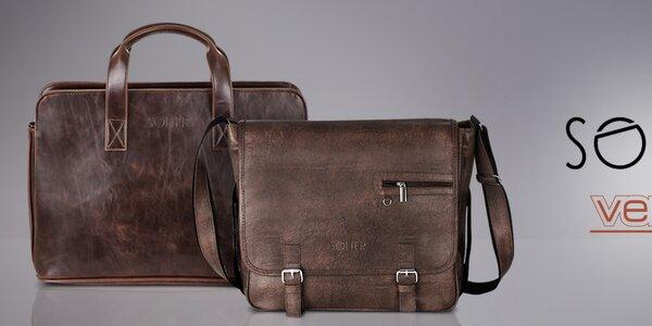 Pánské tašky do práce i pro volný čas Solier, Verso