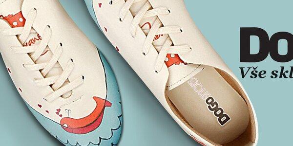 Veselé dámské boty s obrázky Dogo