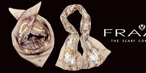 Elegantní šátky Fraas z pravého hedvábí