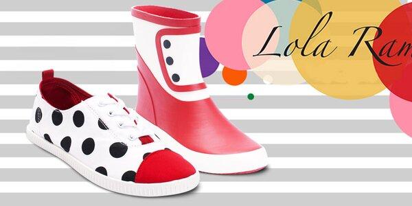 Parádní barevné retro botky Lola Ramona