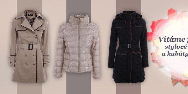 Stylové dámské podzimní bundičky a kabáty