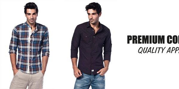 Příjemné pánské košile Premium Company
