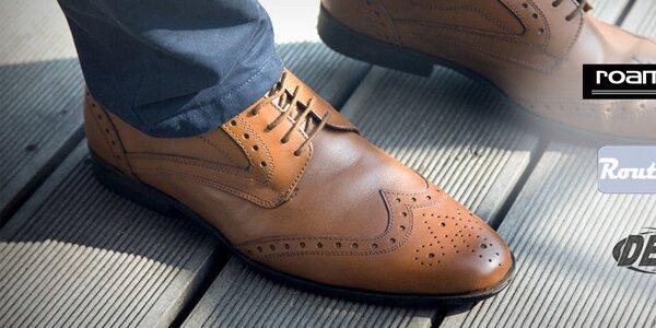 Pánské kožené boty Roamers, Route21, DEK...