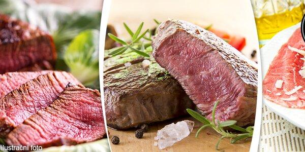 Menu pro dva se steakem a carpacciem