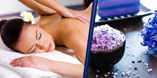 Zdravotně relaxační masáž s aromaterapii + s thajskou masáží hlavy a obličeje