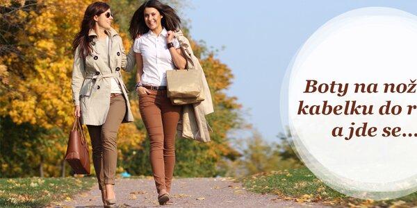 Podzimní dámské boty a kabelky - vše skladem