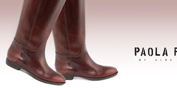 Kožené botičky pro dámské nožičky Paola Ferri
