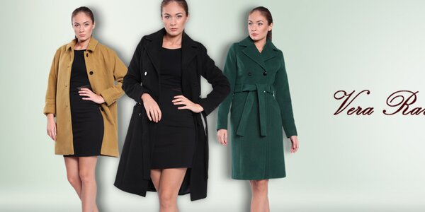 Dámské barevné kabáty Vera Ravenna