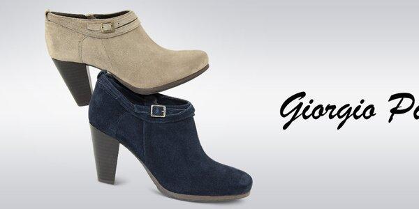 Slušivé kvalitní podzimní boty pro dámy Giorgio Picino