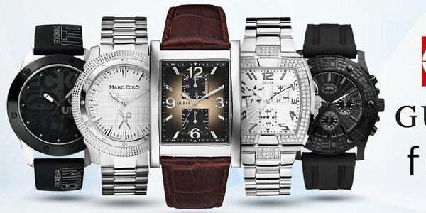 Nastavte si zimní čas s hodinkami značek Guess, FCUK, ECKO - pánské