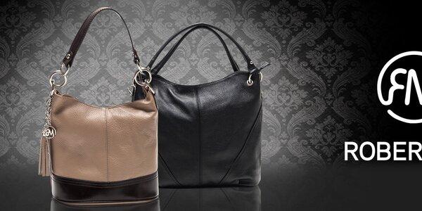 Šmrncovní kožené kabelky z Itálie Roberta Minelli