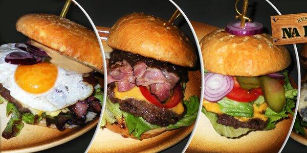 Poctivé burgery v restauraci Na Rychtě