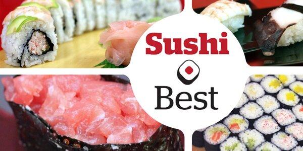 27 kousků sushi včetně rozvozu