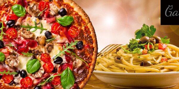 Italská pizza nebo špagety z Pizzerie Gattino