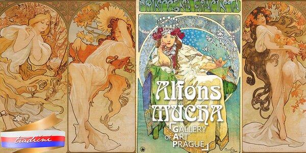 Dvě vstupenky na výstavu Alfonse Muchy
