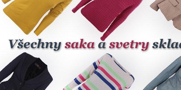 Dámské svetry, kardigany a saka - vše skladem