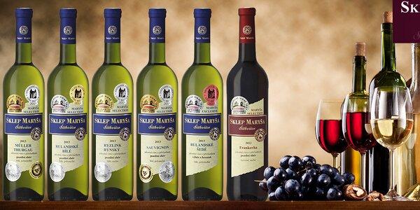 Dárkový set 6 oceněných vín z vinařství Maryša