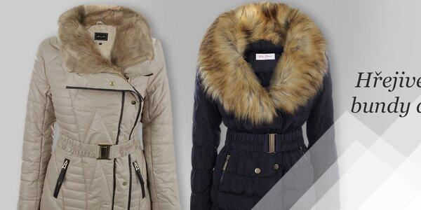 Dámské kabáty Foglie Rosse, Blue Deise
