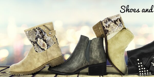 Pohodové dámské boty Shoes and the City, Vanessa Wu