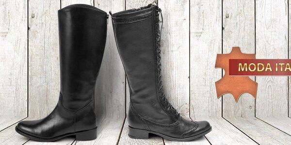 Úchvatné kožené boty pro dámy Moda Italiana