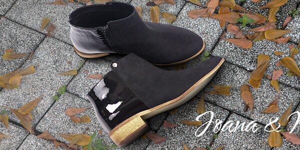 Krásné dámské kožené boty Joana and Paola