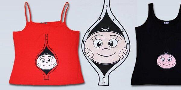 Originální vtipné těhotenské tričko s potiskem