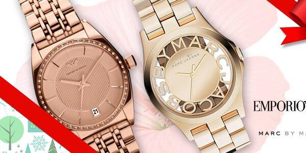 Nadělte luxusní dámské hodinky Emporio Armani a Marc Jacobs