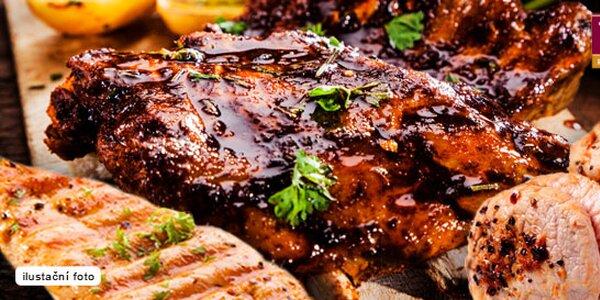 900 g masa z grilu a přílohy až pro 4 jedlíky