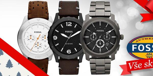 Darujte k Vánocům stylové pánské hodinky Fossil