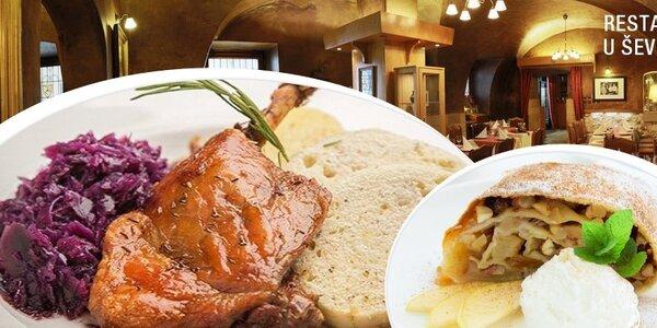 4chodové kachní menu U Ševce Matouše