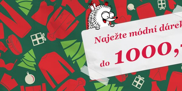 Tipy na vánoční dárky do 1000 Kč - vše skladem