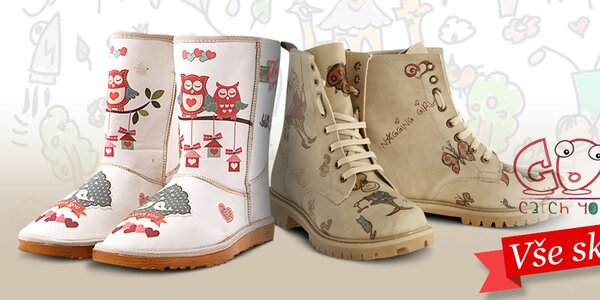 Dámské boty plné barevných potisků Elite Goby