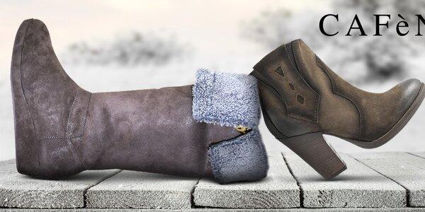 Šmrncovní dámské boty do města Café Noir