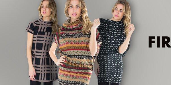 Dámské šaty plné barevných vzorů First