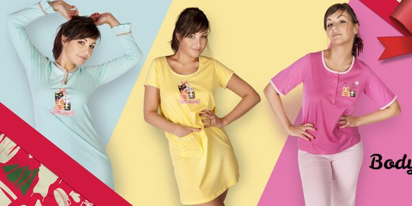 Barevné dámské košilky a pyžama Body International
