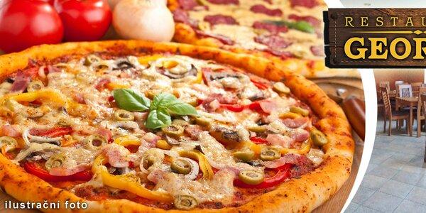 Dvě křupavé pizzy dle výběru v restauraci Georgia