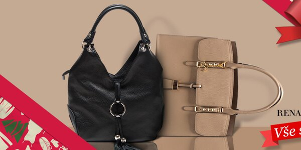 Okouzlující kabelky z kůže Renata Corsi