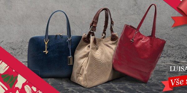 Úchvatné kožené kabelky Luisa Vannini