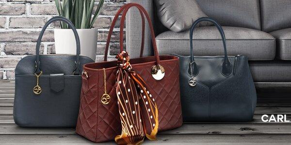 Kožené kabelky a psaníčka Carla Ferreri